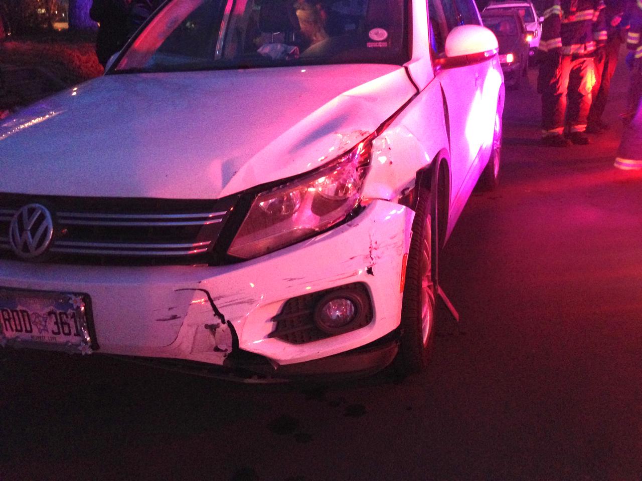 crashed Tiguan