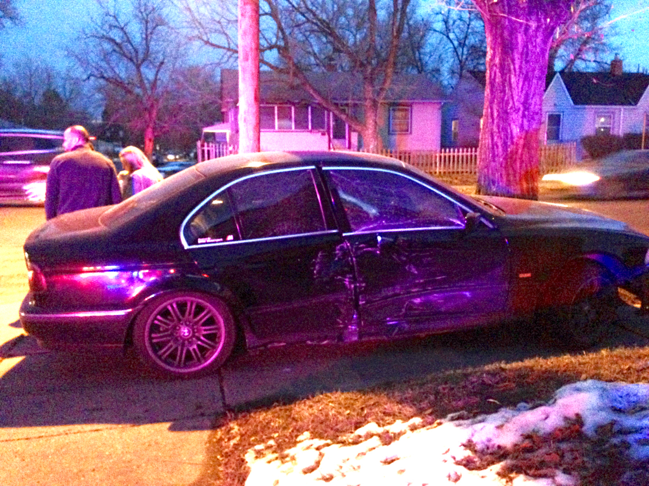 crashed BMW M5