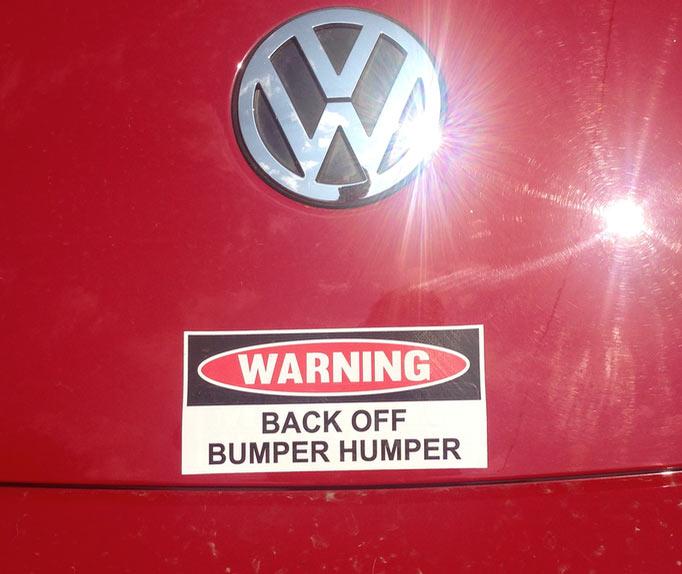 bumper humper - Beetle Bumper Sticker