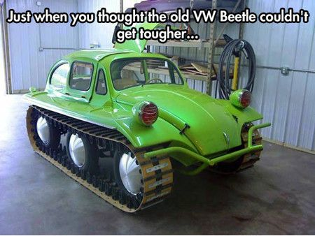 Funniest Memes just when you thought the old vw beetle 10102 - Tough as a Beetle