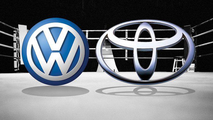 volkswagen vs toyotas - Toyota wants to put competitors, Volkswagen behind