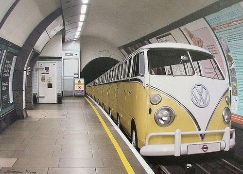funny Favim.com 1015088 - VW Funny: A bus, errr, train, All aboard!
