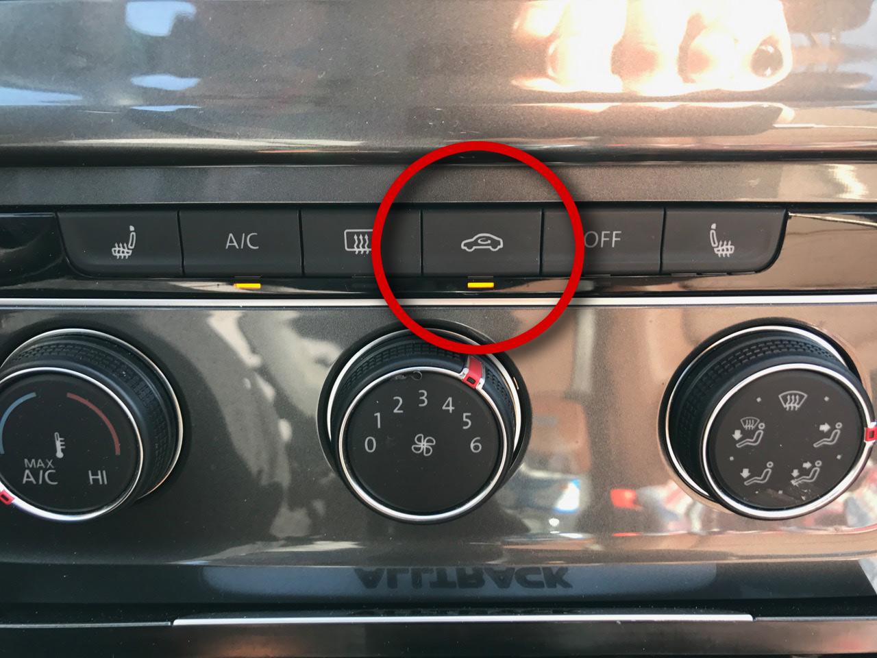 Golf Recirc AC button