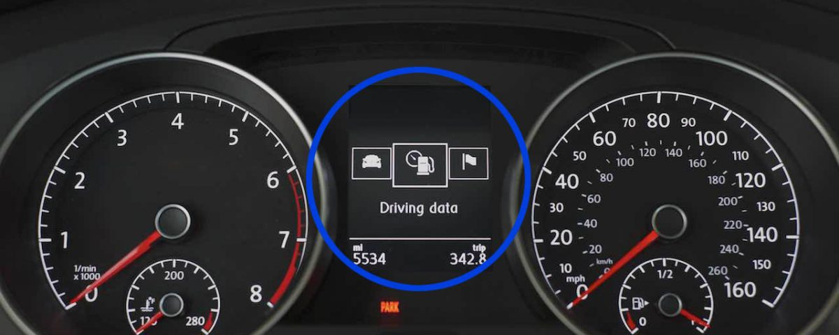 Multifunction Display (MFD) - Driving Data selected