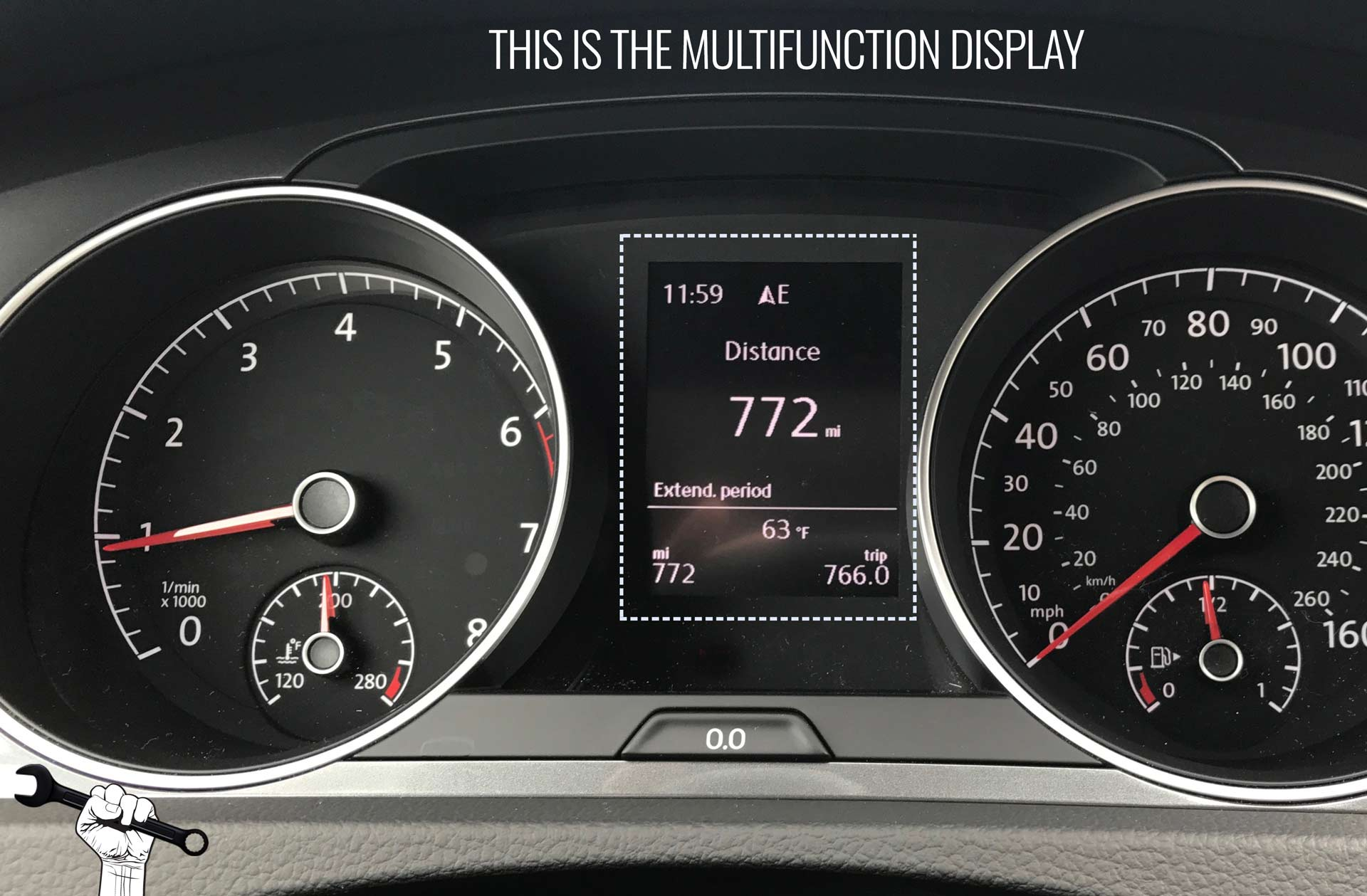 Multifunction Display in VW Golfs