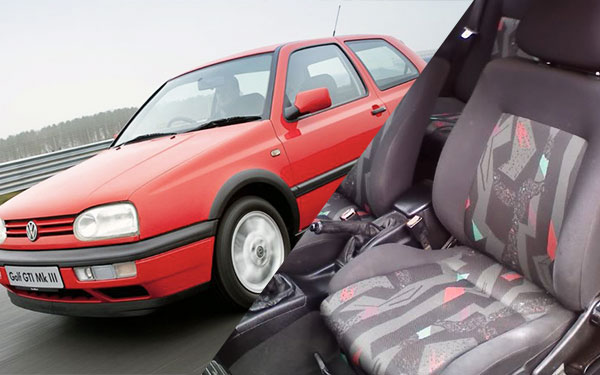 mk3 r - Seven Generations of Plaid GTI Seats -- Photos & Info