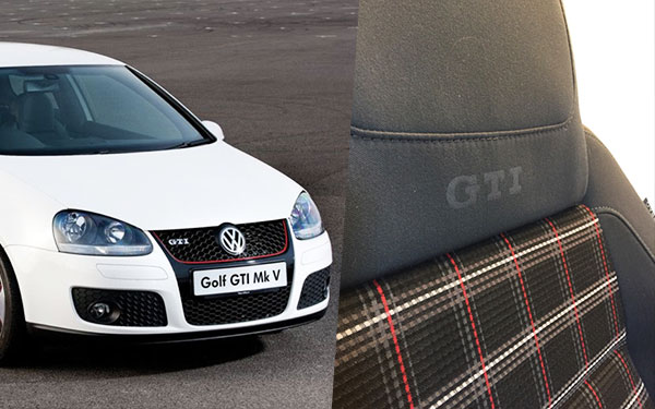 mk5 r - Seven Generations of Plaid GTI Seats -- Photos & Info
