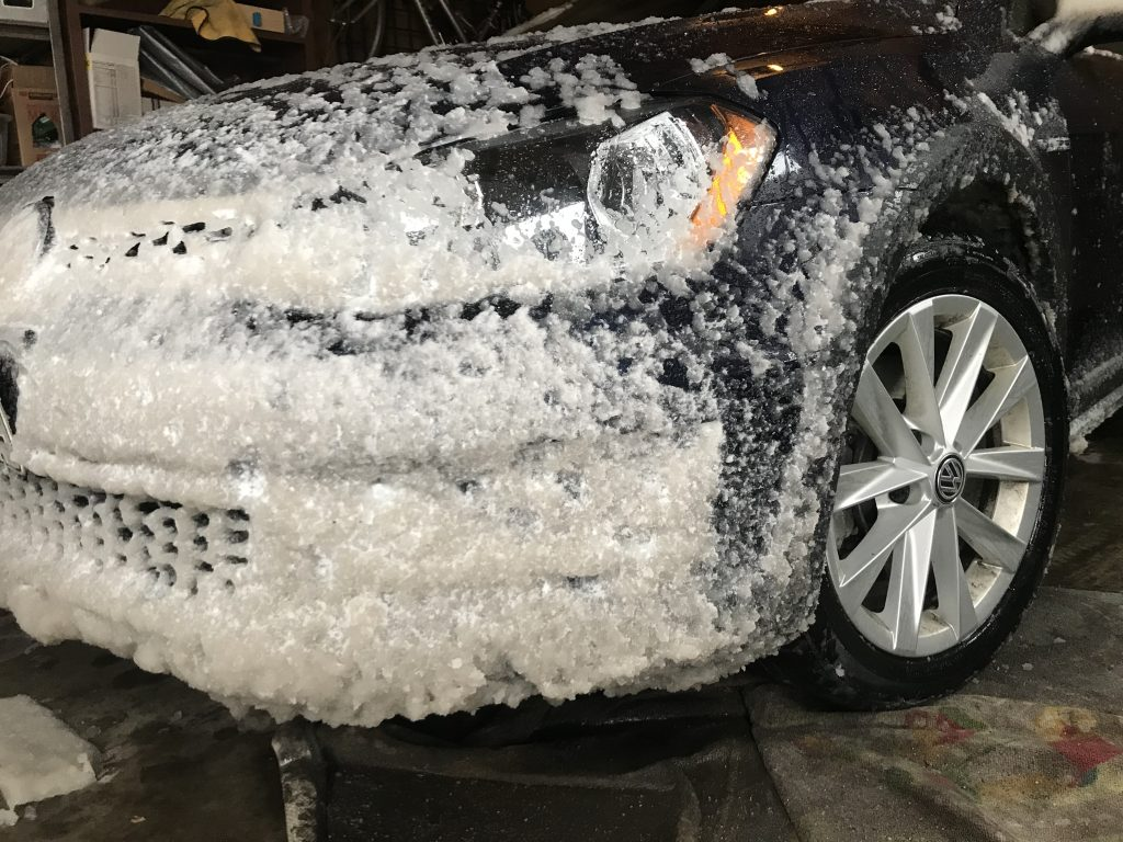 2017 Alltrack Covered in Snow