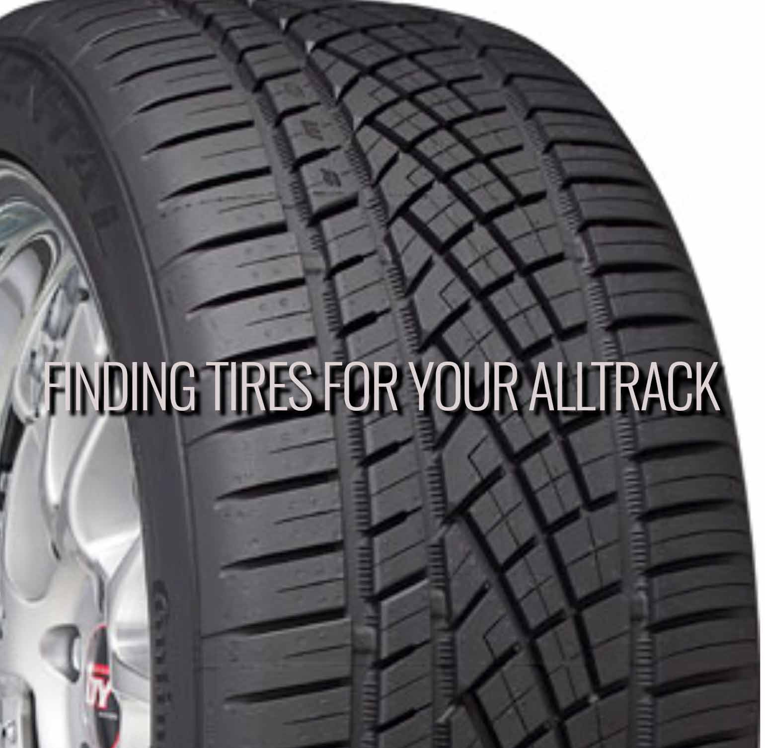 alltrack Continental ExtremeContactDWS - Alltrack Tire Replacement Size and Cost